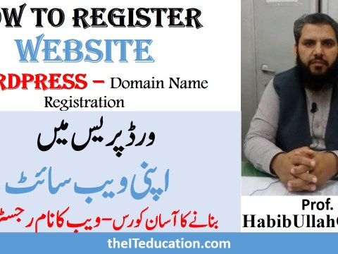 how to create website in wordpress - domain name registration
