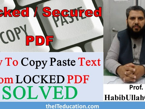 How to copy paste text from locked pdf without password or any software