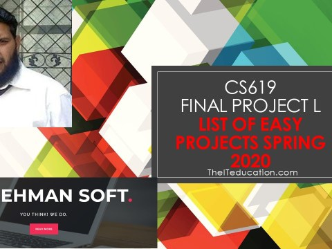 cs619 project list 2020 easy projects