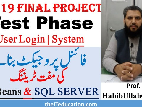 CS619 Test Phase Netbeans and SQL Server Login - Test Phase