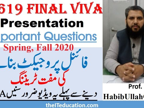 cs619 final viva preparation - Spring 2020 Fall 2020 - VU