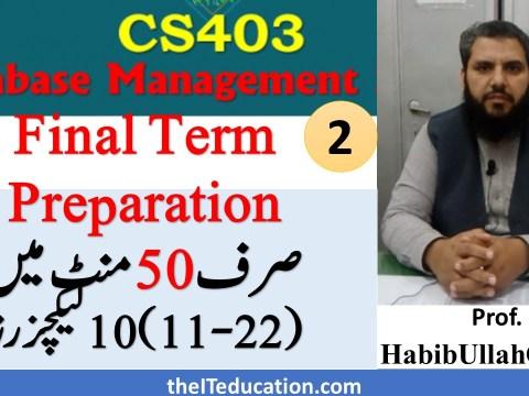 cs403 Final term preparation