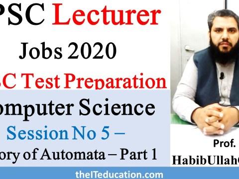 PPSC Computer Science lecturer Preparation
