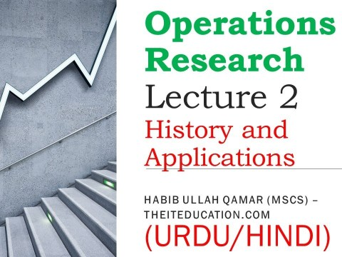 mth601 short lectures 2- History of Opereations Research in urdu and hindi