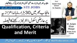 STI Jobs 2021 - Qualification and Criteria for Selection
