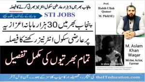 STI Vacancies District Wise Detail of Vacant Posts and Costs Breakup