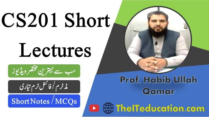 CS201 short lectures - cs201 short notes - cs201 midterm preparation - cs201 final term preparation revised course