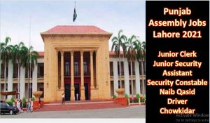 Punjab Assembly Lahore Jobs 2021
