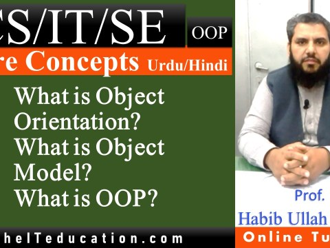 What is Object Orientation and Object Model in Object Oriented Programming Urdu and hindi