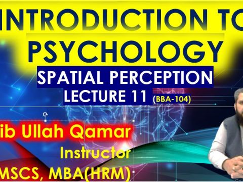 Spatial Perception in URDU - Factors, Types - BBA104- PSy101 Introduction to Psychology