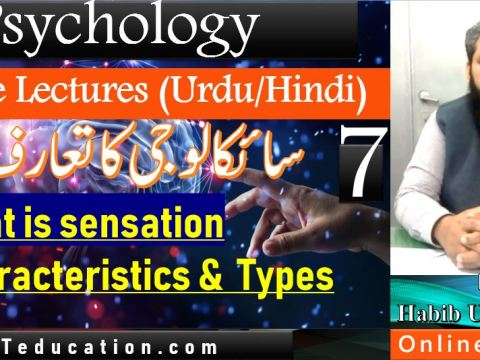 What is Sensation in urdu hindi - BBA104 Introduction to Psychology - Online Lectures Urdu hindi