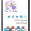 The IT Fairy website on a mobile device