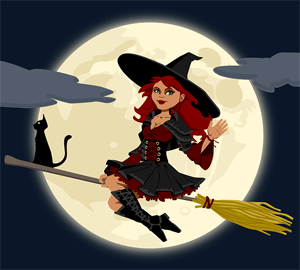 witch flying