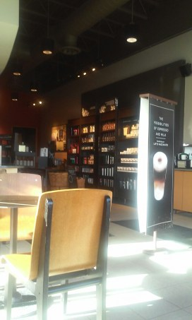 inside of Starbucks, Hugo Morel