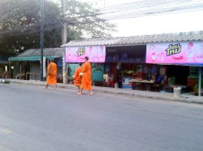 Early morning monks