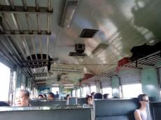 Inside our train car