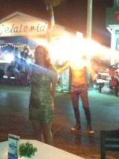 Corinne and the fire dancer