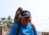 Vince's little friend liked his hat