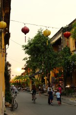 Sunset, our first night in Hoi An