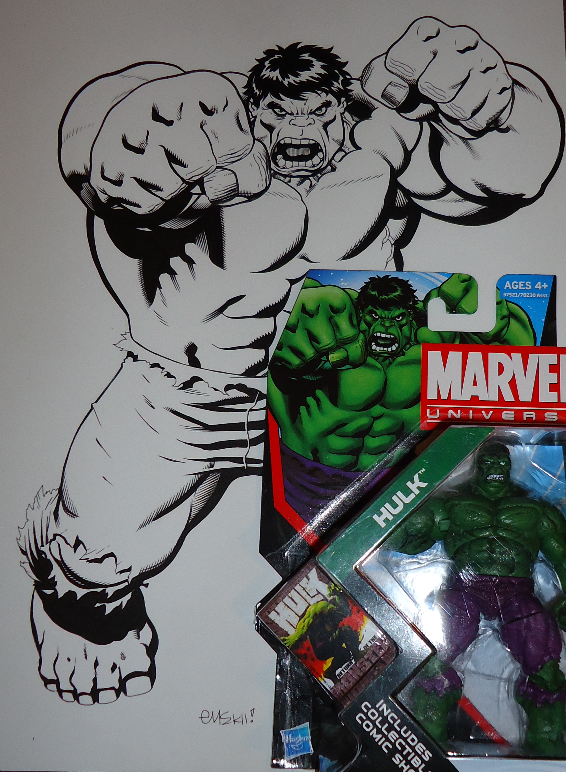 Ed McGuinness Packaging Artwork For Hasbro Marvel Universe