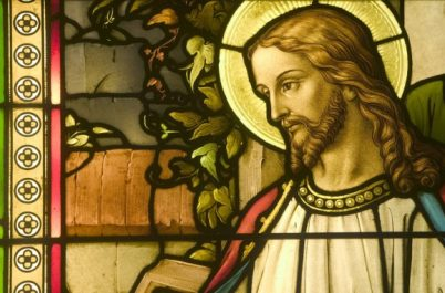 Stained Glass Depicting Jesus Christ