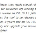 Jailbreak iOS 10.3.1 Release Date: Before or After WWDC 2017?