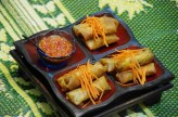 Spring rolls at Silom Thai Cooking Class
