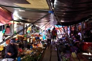 The Maeklong Train Market