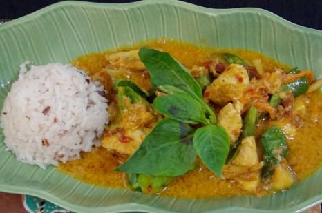 Red curry chicken Thailand