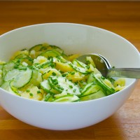 Potato salad with cucumber