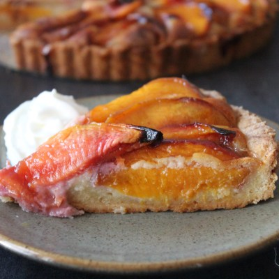 Nectarine OR Fig and Plum Frangipane Tart