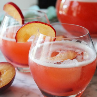 Plum and Fennel Fizzy Lemonade