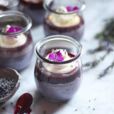 White Chocolate-Lavender Pot De Creme