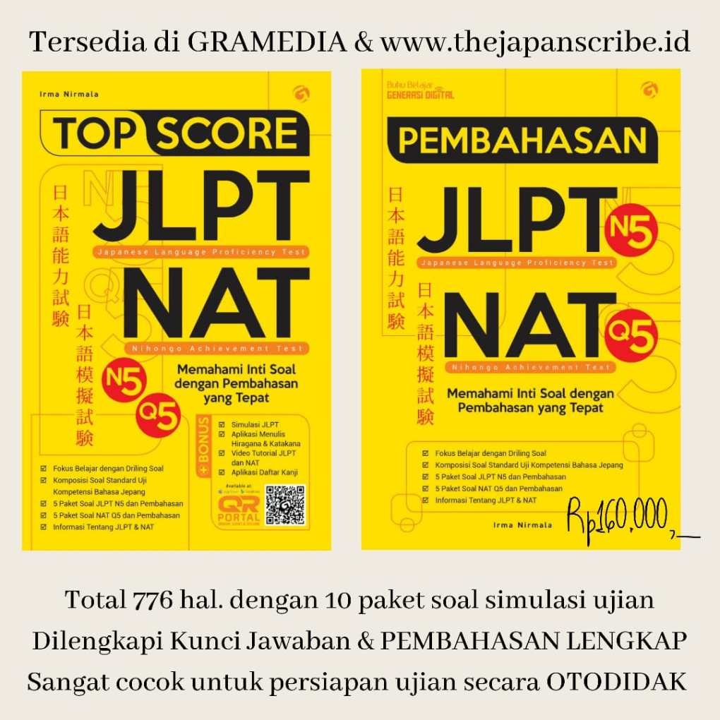 Top Score JLPT N5 & NAT TEST Q5