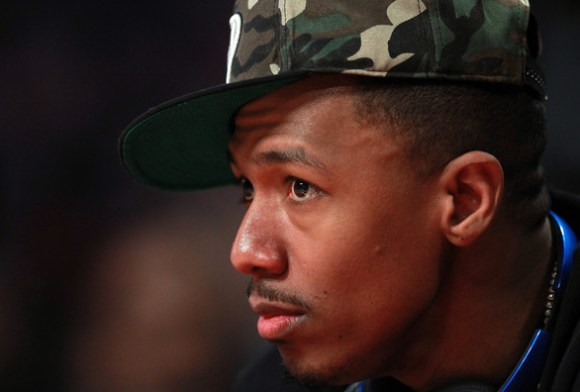 nick cannon-courtside-nba all star game 2013-the jasmine brand