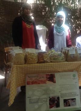 Asma' and Ezra' at their stall