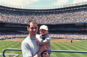 Wyatt & Daddy at Yankees Game