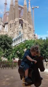 Barcelona: In front of Sagrada Família