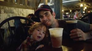 Butter Beer for him and a Guiness for me