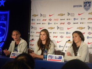 Christie Rampone, Alex Morgan, Carli Lloyd