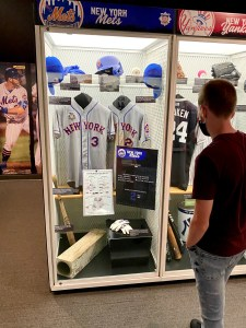 Child locker at New York Mets locker at Baseball Hall of Fame in Cooperstown.