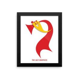 Framed poster (trumpet)
