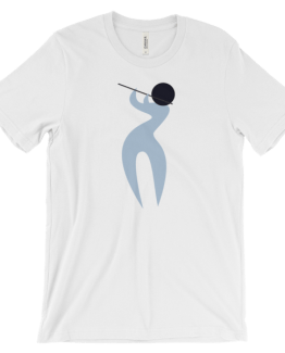 FLUTE BLUE Unisex short sleeve t-shirt