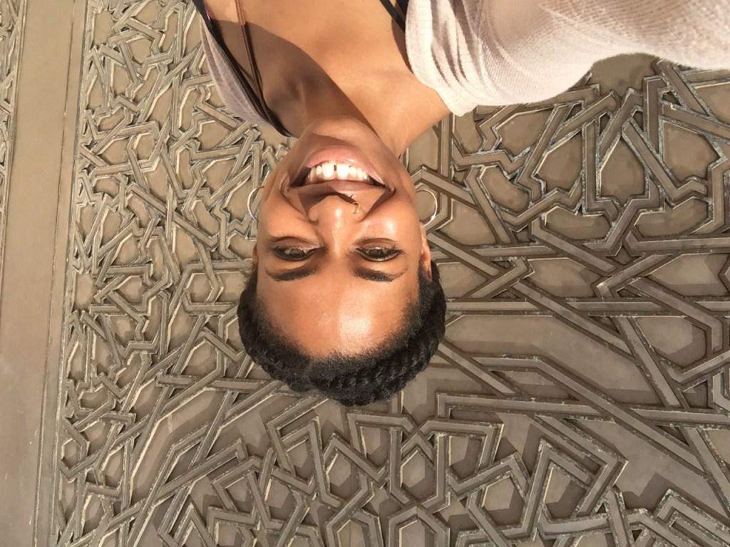 Black women taking a selfie in Morocco