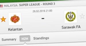 Live streaming sarawak vs kelantan liga super 26.2.2016