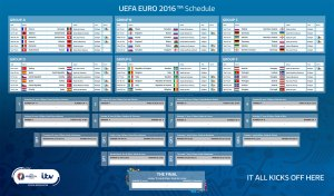 EURO full schedule 2016