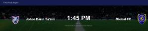 Live streaming jdt vs Global fc afc cup 14.3.2017