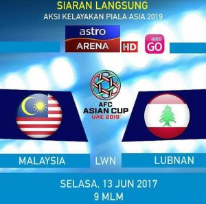 Live streaming malaysia vs Lubnan afc cup 2017