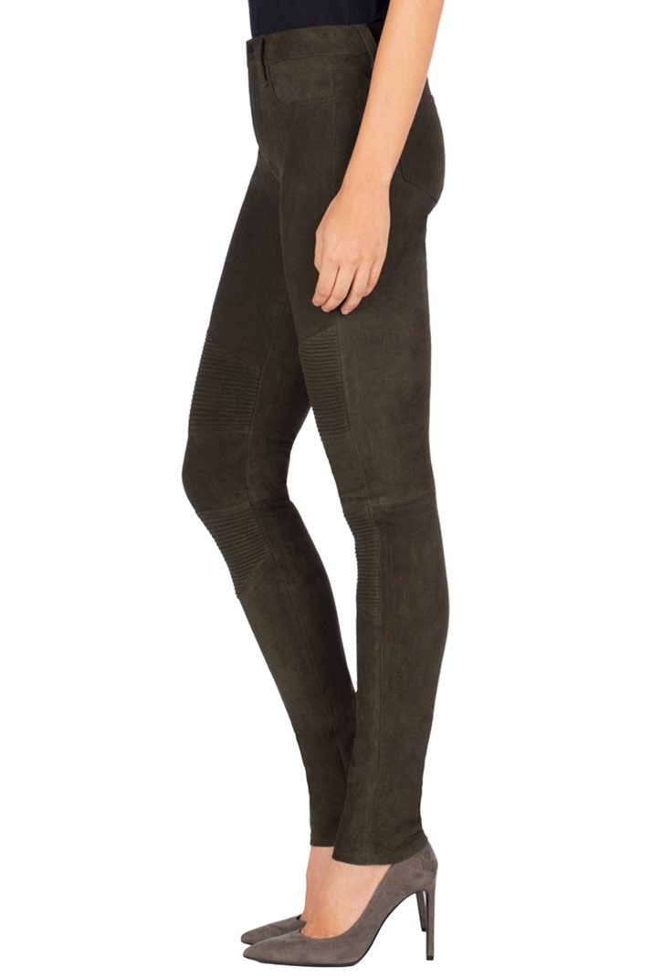 J Brand N8094 Tonya Leather Moto Jeans in Nubuck Camo 3