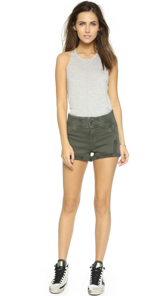 RtA Salvador Cutoff Shorts GREEN